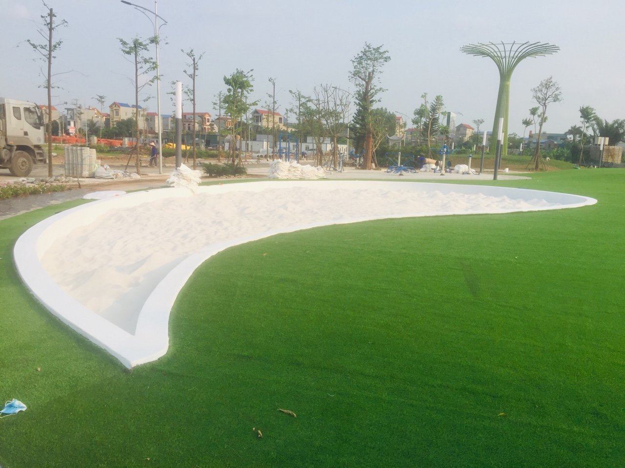 cát sân vườn
